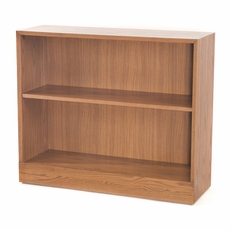 Adjustable 1-Shelf Wooden Bookcase