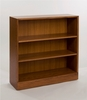 Adjustable 2-Shelf Wooden Bookcase