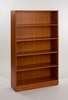 Adjustable 4-Shelf Wooden Bookcase