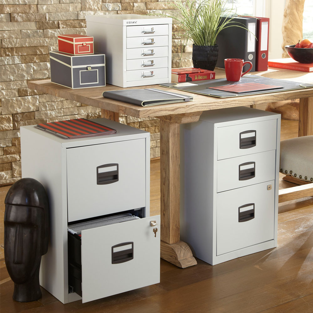 Bisley 2 Drawer Home File Cabinet .