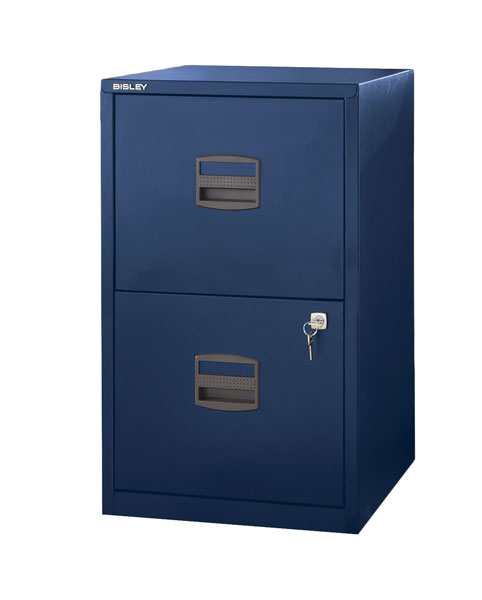 Bisley Two Drawer Steel Home Filing Cabinet Orange File2: Bisley 2 Drawer Home File Cabinet