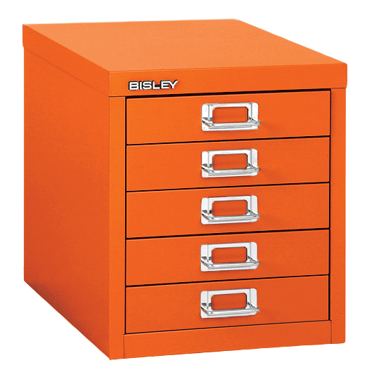 Bisley Two Drawer Steel Home Filing Cabinet Orange File2: Bisley 5-Drawer Desktop Multidrawer Cabinet