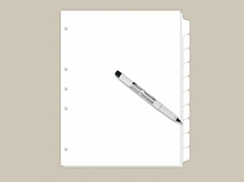 Blank Write On Index Tabs 10 Tab Set