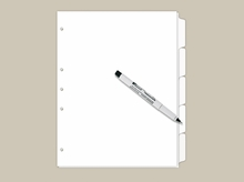 Blank Write On Index Tabs 5 Tab Set
