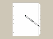 Blank Write On Index Tabs 8 Tab Set
