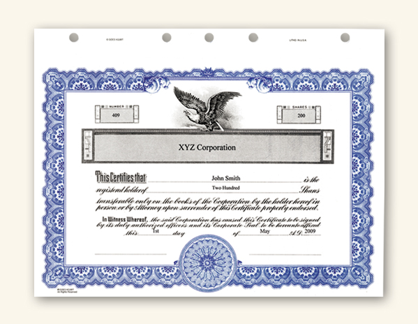 Corporate stock certificates yadclub Images