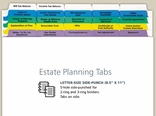 Estate Planning Index Tabs for Professional Use