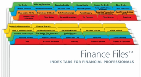 Finance Index Tabs