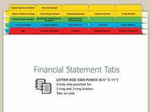 Financial Statement Preparation Index Tabs