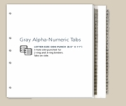 Gray Numeric-Alpha Exhibit Tabs