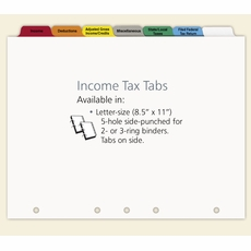 Income Tax  Index Tabs