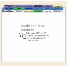 Mediation Index Tabs
