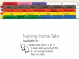 Nursing Home Medical Records Index Tabs