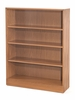 Adjustable 3-Shelf Wooden Bookcase