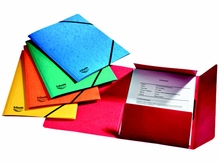 3 Flap Folders with Elastic Bands
