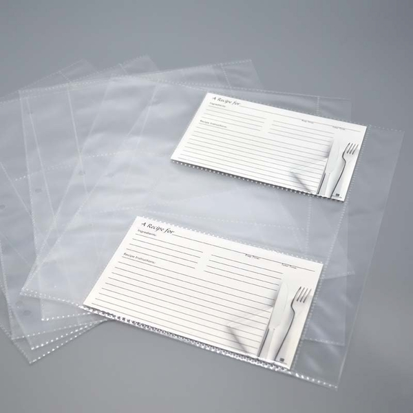 Recipe card sheet protectors letter size pages for Letter size sheet protectors