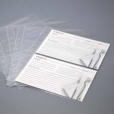 Recipe Card Sheet Protectors – Mini Size Pages