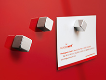 Strong Silver Cube Magnet