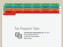 Tax Preparer Index Tabs