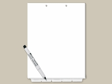 Top Punch Tabs: Blank Write On Index Tabs Letter Size