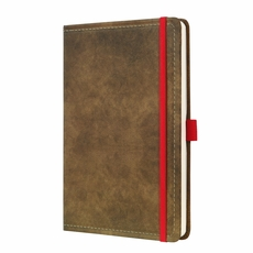 Vintage Hardcover Lined Notebook - Journal Size (with Elastic Closure)