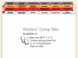 Workers' Compensation Index Tabs