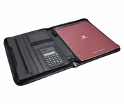Zippered Writing Padfolio Organizer