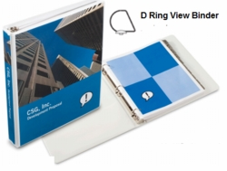 "1 1/2"" Angle-D View Binder- Case of 12"
