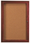1 Door Enclosed Bulletin Board with Cherry Finish - 48''H x 36''W [CBC4836R-AA]