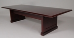 10' Wood Veneer Conference Table in Mahogany Finish [996MH-FS-FDG]