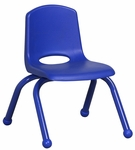10''H Vented Back Stacking Chair with Matching Legs and Ball Glides - Blue [ELR-2192-BL-ECR]
