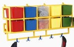 10 X-Size Multicolor Wall Hung Cubbie Coat Center [CF905-033-FS-CHF]
