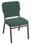 1000 Series Stacking Steel Frame Armless Hospitality Chair with 2'' Upholstered Waterfall Seat [WB1020-IFK]