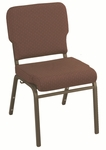 1000 Series Stacking Steel Frame Armless Hospitality Chair with 3'' Upholstered Waterfall Seat [WB1030-IFK]