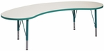 1000 Series Adjustable Kidney Play Activity Table - 72''W x 30''D x 14'' to 23''H [9372R-TOT]