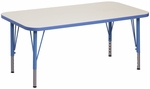 1000 Series Adjustable Rectangle Play Activity Table - 30''W x 72''D x 14'' to 23''H [9314R-TOT]