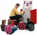 1000 Series Mobile Big Book Easel with Dry/Erase Marker Board [1375R-TOT]