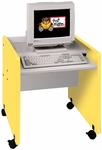 1000 Series Single Person Mobile Computer Desk - 30''W x 27''D x 26''H [1321R-TOT]