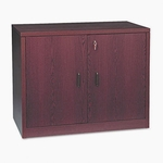 10500 Series Contemporary Double Door Storage Cabinet in Mahogany Finish [HON105291NN-FS-SP]