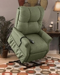 Economy Model Two Way Reclining Power Lift Chair with Magazine Pocket - Dawson Sage Fabric [1155DS-FS-MEDL]