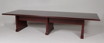 12' Wood Veneer Conference Table in Mahogany Finish [998MH-FS-FDG]