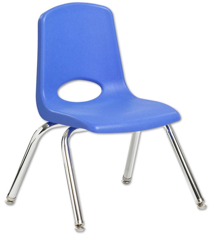 12H Vented Back Stacking Chair with Chrome Legs and Nylon Swivel
