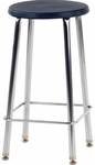 120 Series Stool with Soft Round Plastic Seat - 16.5''W x 16.5''D x 24''H [12024-VCO]