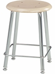 121 Series Stool with Hard Round Plastic Seat - 16.37''W x 16.37''D x 18''H [12118-VCO]