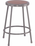 122 Series Stool with Masonite Inset Round Seat - 16.5''W x 16.5''D x 24''H [12224-VCO]