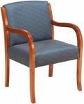 1281 Lounge Chair w/ Upholstered Back & Web Seat - Grade 1 [1281-GRADE1-ACF]