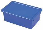 Stackable Heavy Duty Polypropylene Plastic Storage Tubs with Lids - Blue [ELR-0102-BL-ECR]