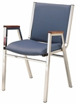 1400 Series Stacking Hospitality Armchair with Square Full Back and 1'' Upholstered Seat [1411-IFK]