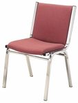 1400 Series Stacking Armless Hospitality Chair with Square Full Back and 1'' Upholstered Seat [1410-IFK]