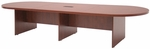 Legacy 144''W Modular Racetrack Wooden Conference Table with Power Data Grommet - Cherry [LCTRT14452CH-FS-REG]